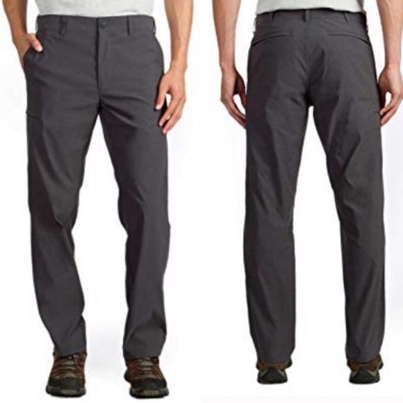 New NWT Rainier UB Travel Cargo Mens Chino Pants Sz 34 x 30 Tan Classic Fit